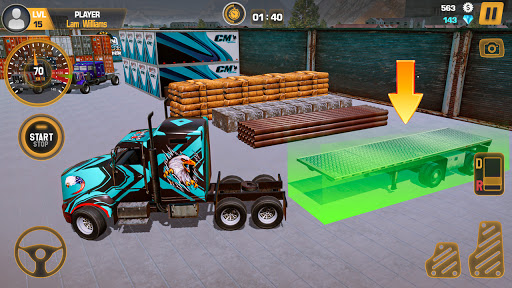 Heavy Truck Simulator USA: Euro Truck Driving 2021 android2mod screenshots 4