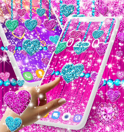 2021 Glitter hearts live wallpaper android2mod screenshots 3