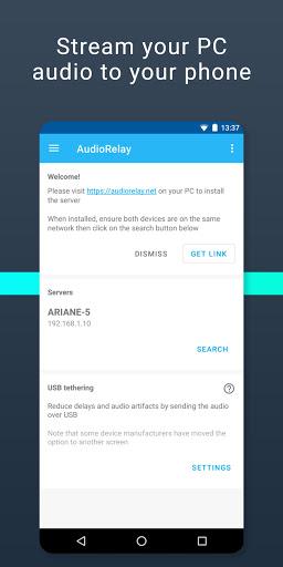 Foto do AudioRelay: Stream your PC audio on Wifi or USB