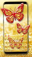 Gold Glitter Butterfly Keyboard Theme