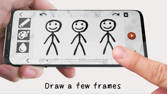 Stickman draw animation, creator & maker, drawing 3