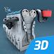 4ストロークエンジンインタラクティブな教育用3D