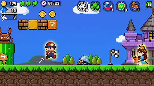 Pixel World - Super Run  screenshots 1