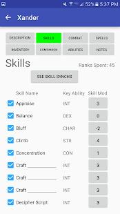 Character Sheet (3.5) screenshots 4