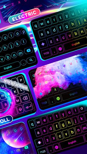Neon LED Keyboard - RGB Lighting Colors android2mod screenshots 3