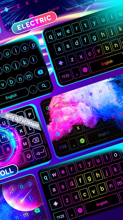 Neon LED Keyboard - RGB Lighting Colors poster 3