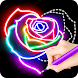 Learn To Draw Glow Flower - Androidアプリ