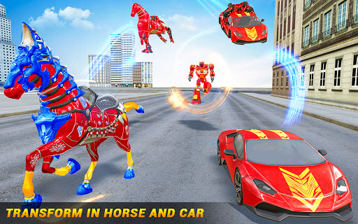 Horse Robot Car Game u2013 Space Robot Transform Wars  screenshots 13