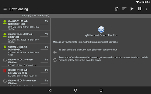 qBittorrent Controller Pro Screenshot