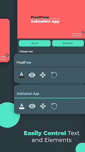 PixelFlow- Intro maker mit musik & Animation clips Screenshot