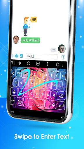 Neon LED Keyboard - RGB Lighting Colors android2mod screenshots 13