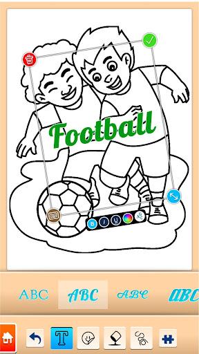 Football coloring book game screenshots 5