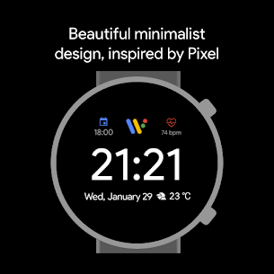 Pixel Minimal Watch Face – Watch Faces for WearOS 5
