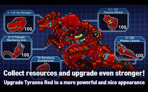 T-Rex Red - Combine! Dino Robot : Dinosaur games 2.1.9 screenshots 10