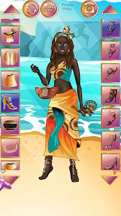 アフリカの伝統的なファッション-メイクアップ&ドレスアップ