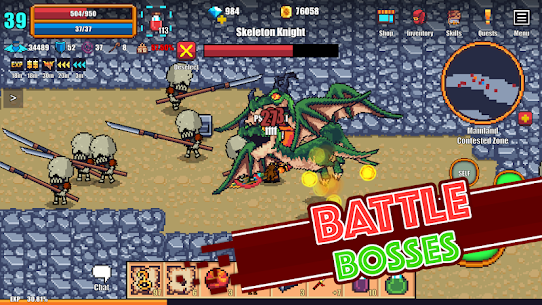 Pixel Knights Online 2D MMORPG MMO RPG 2