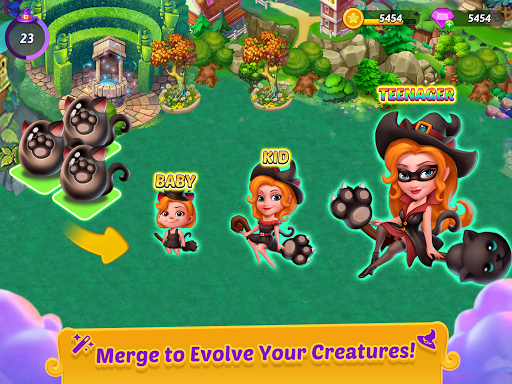 Merge Witches - merge&match to discover calm life 1.6.0 screenshots 13