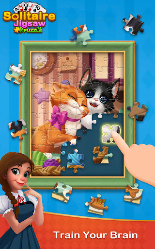 Solitaire Jigsaw Puzzle - Design My Art Gallery  screenshots 17