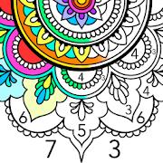 Mandala Color by Number - Mandala Coloring Book