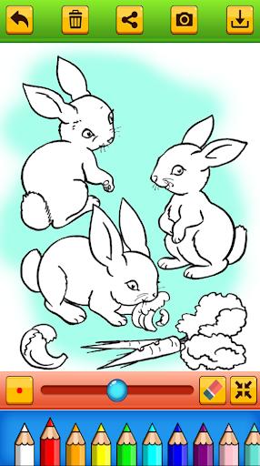 Cute Rabbit Coloring Book screenshots 2
