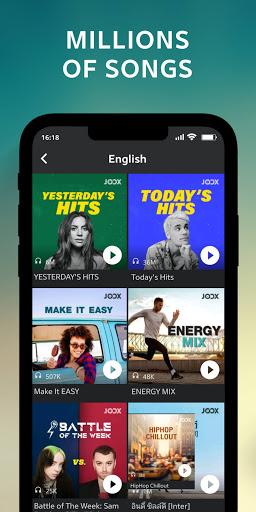 JOOX Music screen 1
