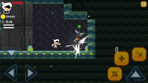 White Ninja: B Ninja Jump Run Battle Adventure 1.0 screenshots 1