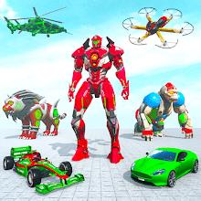 Multi Robot Transforming Games: Drone Robot Wars APK