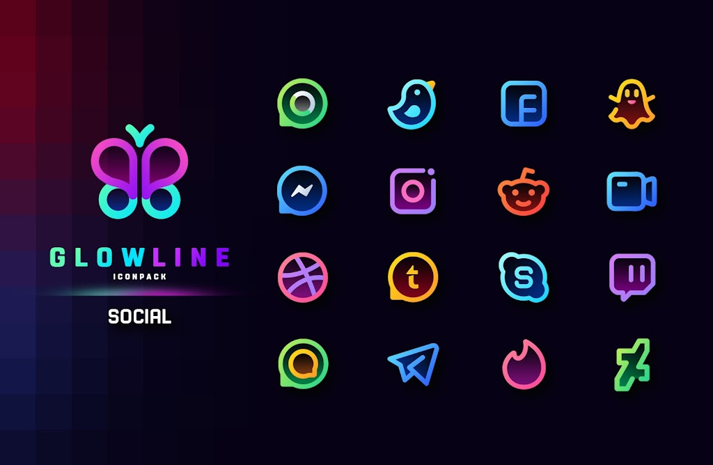 GlowLine Icon Pack  poster 2