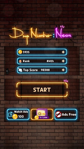 Drop Number : Neon 2048 1.0.5 screenshots 7