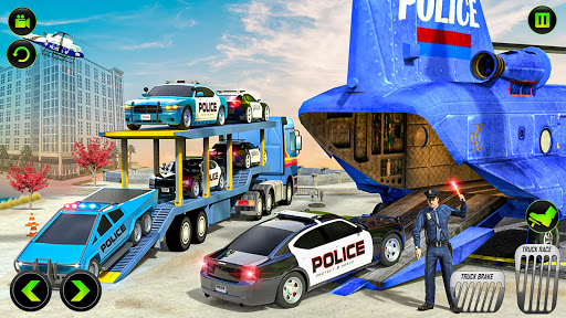 US Police CyberTruck Car Transporter: Cruise Ship 1.1.1 Screenshots 10