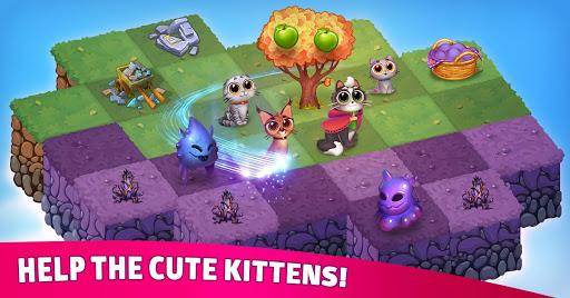 Merge Cats: Magic merging, garden renovation games screenshots 5