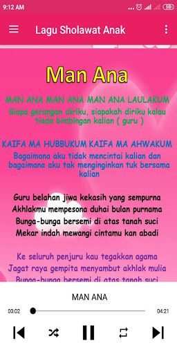 Lagu Anak Muslim & Sholawat Nabi 1.0.8 screenshots 8