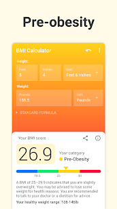BMI Calculator PRO (MOD, Paid) v2.2.5 3