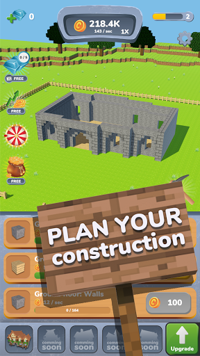 House Craft 3D - Idle Block Building Clicker modiapk screenshots 1