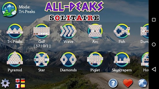 All-Peaks Solitaire Screenshot