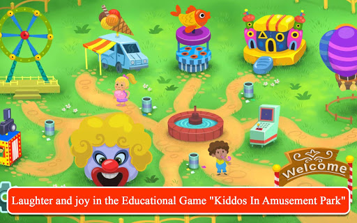 Kiddos in Amusement Park - Free Games for Kids apkpoly screenshots 1