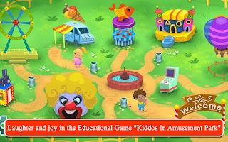 Kiddos in Amusement Park - Free Games for Kids