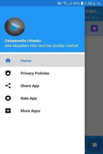 Ostseewelle Hitradio Mecklenburg-Vorpommern App 1.1 screenshots 2