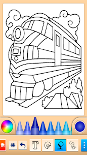 Train game: coloring book for kids 3