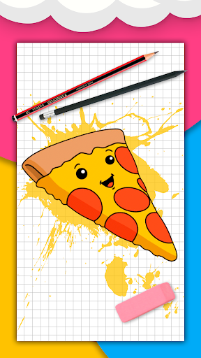 How to draw cute food, drinks step by step 1.6.2 Screenshots 1