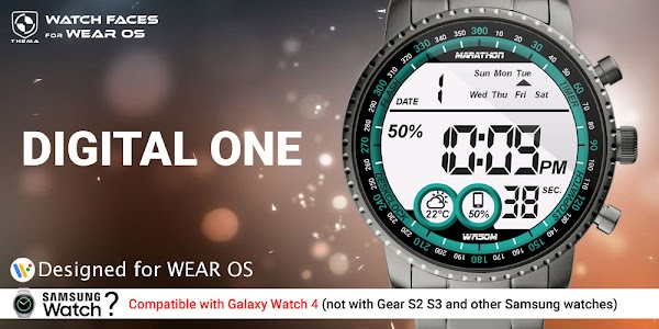 Digital One Watch Face 1.21.09.3015 (Paid) (SAP)