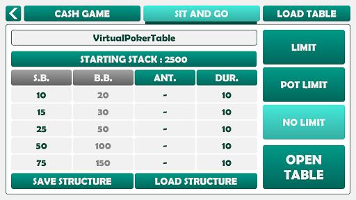 Virtual Poker Table : Cards, Chips & Dealer  screenshots 7