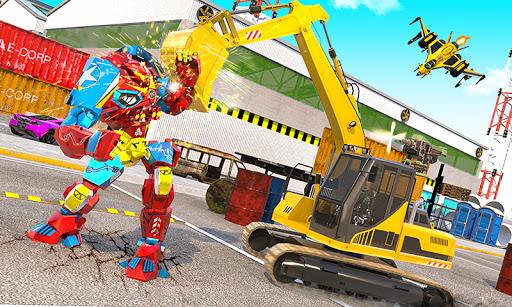 Grand Sand Excavator Robot Transform Robot Games 4.0.2 screenshots 2