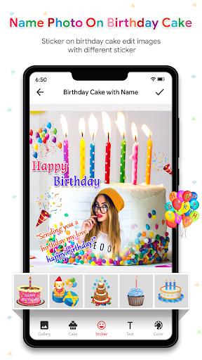 Name Photo On Birthday Cake - Birthday Photo Frame  screenshots 6