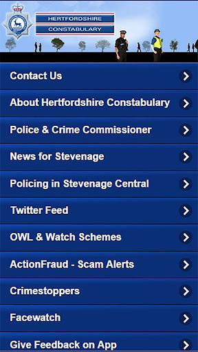 hertfordshire police screenshot 1
