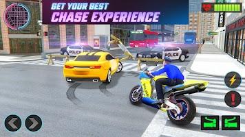 US Police Bike Chase - Open World Shooting Game