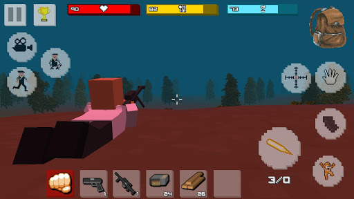 Zombie Craft Survival 3D: Free Shooting Game apkpoly screenshots 5