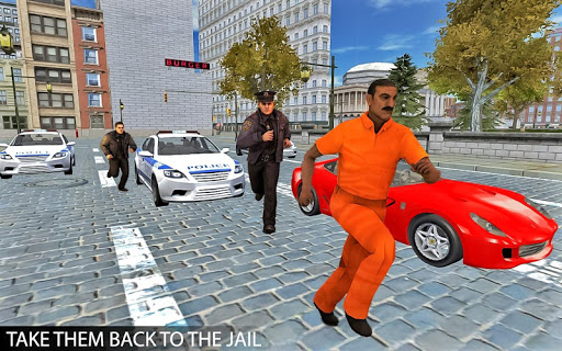 Drive Police Car Gangsters Chase : Free Games  screenshots 4