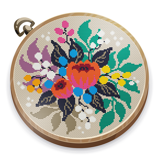 Cross Stitch Club — Color by Number with a Hoop