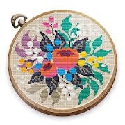 Cross Stitch Club — Color by Numbers with a Hoop